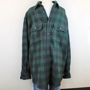 Woolrich Green & Black Wool Light Jacket size L
